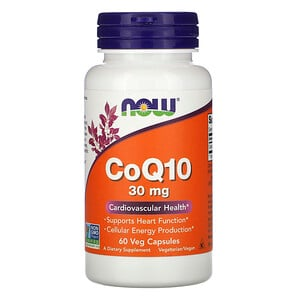 Now Foods, CoQ10, 30 mg, 60 Veg Capsules отзывы