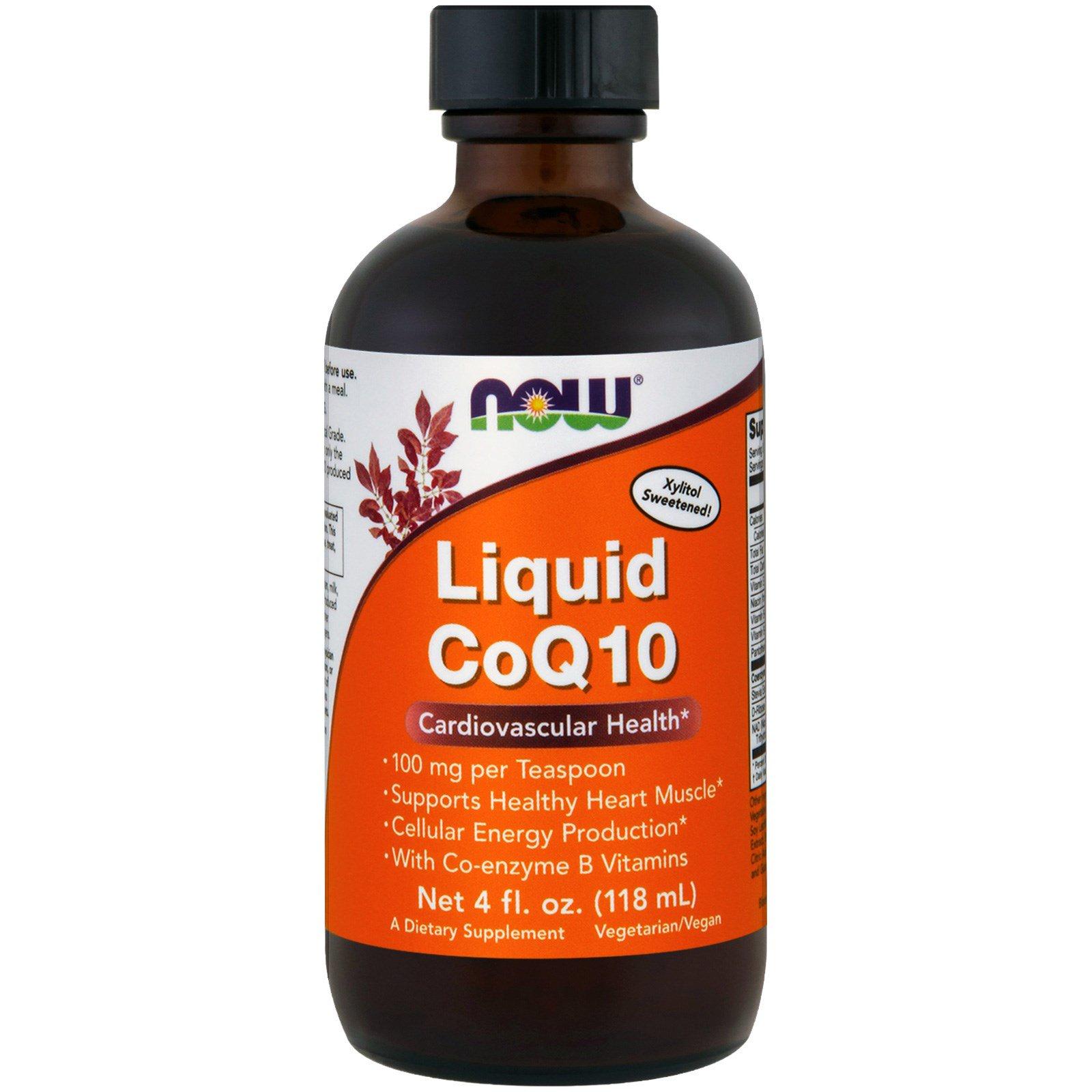 Now Foods, Жидкий CoQ10, 4 жидкие унции (118 мл)