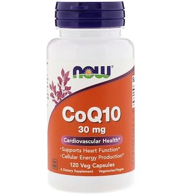Купить Now Foods CoQ1, 30 мг, 120 вегетарианских капсул