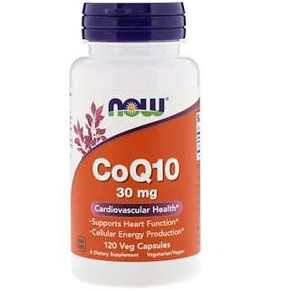 Now Foods, CoQ10, 30 mg, 120 Cápsulas Vegetais