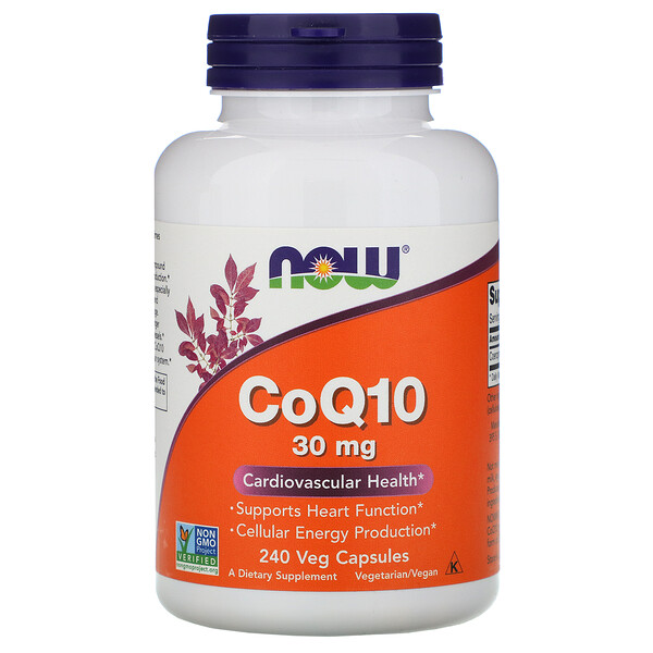 Now Foods, CoQ10, 30 mg, 240 cápsulas vegetales