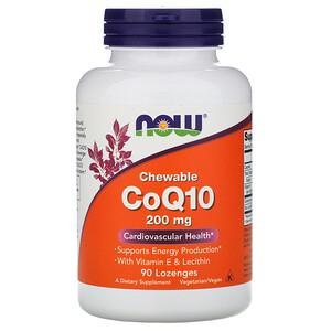 Now Foods, CoQ10 Chewable, 200 mg, 90 Lozenges отзывы