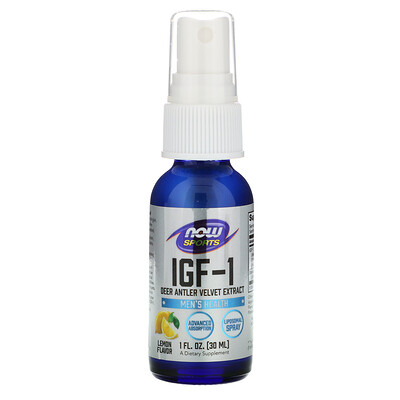 IGF-1, Deer Antler Velvet Extract, Lemon Flavor, 1 fl oz (30 ml)