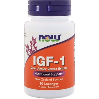Now Foods, IGF-1, 30 Lutschtabletten