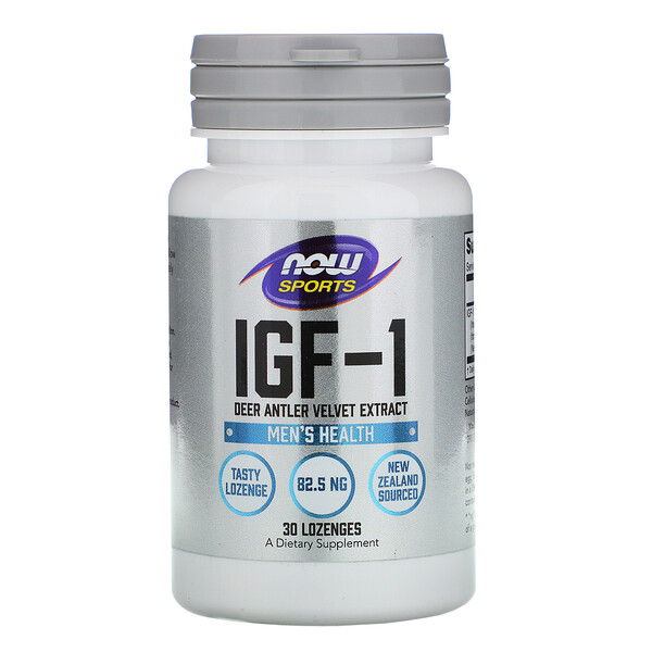 Now Foods, IGF-1,  Deer Antler Velvet Extract, 30 Lozenges