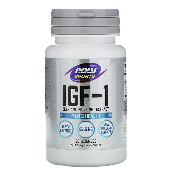 Now Foods, Sports, IGF-1, Men's Health, 30 Lozenges