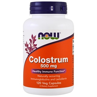 Now Foods, Colostrum, 500mg, 120 식물성 캡슐