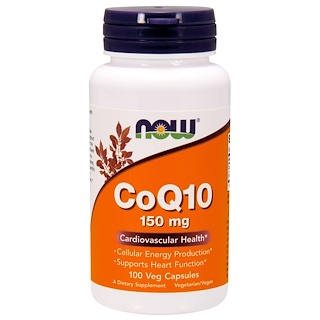 Now Foods, CoQ10, With Soy Lecithin, 150 mg, Veg Capsules