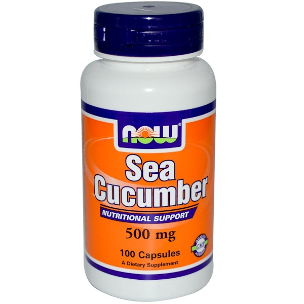 Now Foods, Sea Cucumber, 500 mg, 100 Capsules (Discontinued Item)