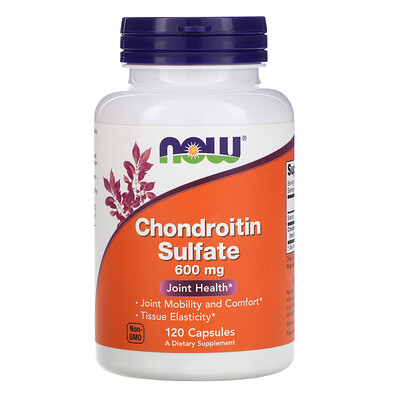 Купить Now Foods Chondroitin Sulfate, 600 мг, 120 капсул