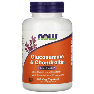 Now Foods, Glucosamine & Chondroitin, 120 Veg Capsules