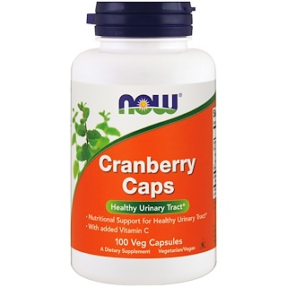 Now Foods, Cranberry Caps, 100 cápsulas veganas
