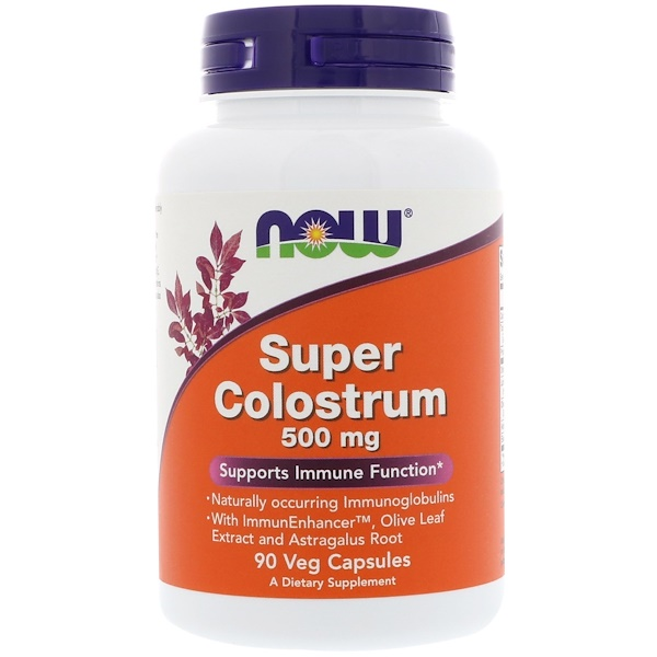 Super Colostrum, 500 mg, 90 cápsulas vegetarianas