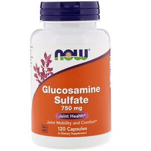 Now Foods, Glucosamine Sulfate, 750 mg, 120 Capsules отзывы покупателей