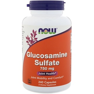 Now Foods, Glucosamine Sulfate, 750 mg, 240 Capsules