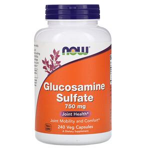 Now Foods, Glucosamine Sulfate, 750 mg, 240 Veg Capsules отзывы покупателей