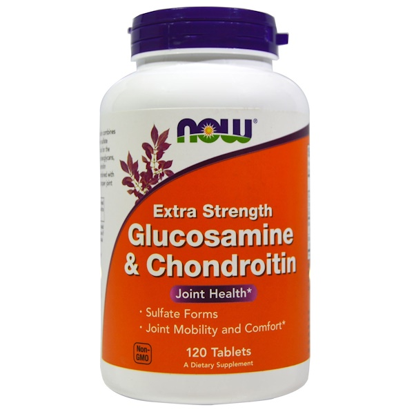 Now Foods, Glucosamine & Chondroitin, Extra Strength, 120 Tablets