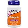 Now Foods, Melatonin, 3 mg, 60 Kapseln