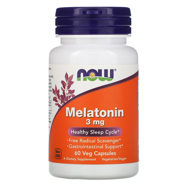 Now Foods, Melatonin, 3 mg, 60 Veg Capsules