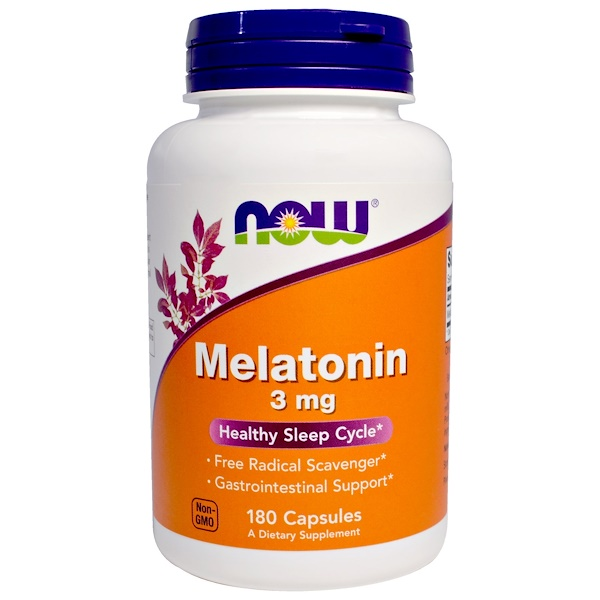 Now Foods, Melatonina, 3 mg, 180 cápsulas