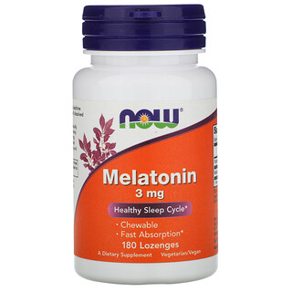Now Foods, Melatonin, 3 mg, 180 Lozenges
