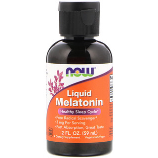 Now Foods, Melatonina Líquida, 60 ml