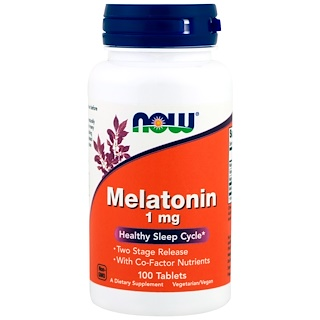 Now Foods, Melatonina, 1 mg, 100 comprimidos