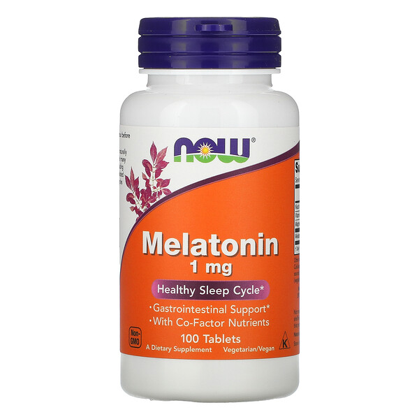 Melatonina, 1 mg, 100 tabletas
