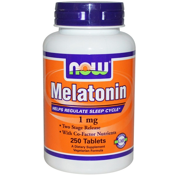 Now Foods, Melatonin, 1 mg, 250 Tablets (Discontinued Item)