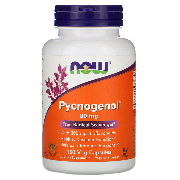 Now Foods, Pycnogenol, 30 mg, 150 Veg Capsules
