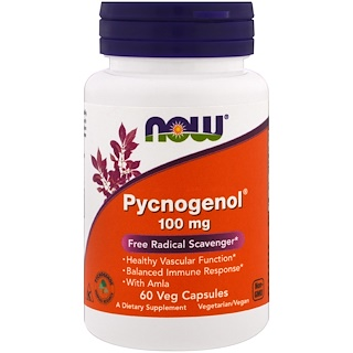 Now Foods, Picnogenol, 100 mg, 60 cáps. vegetarianas