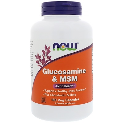 Глюкозамин и МСМ, 180 растительных капсул