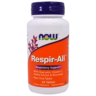 Now Foods, Respir-All, 60 Tabletten