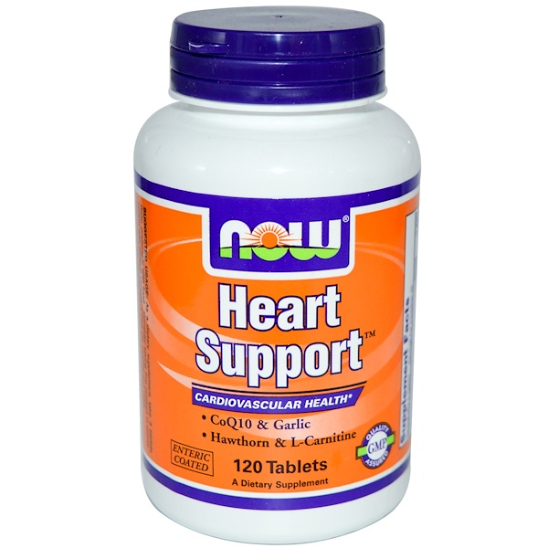 Now Foods, Heart Support, 120 Tablets (Discontinued Item)