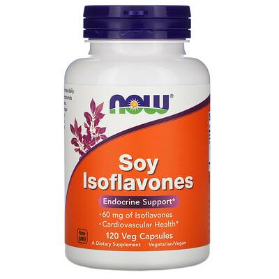 Купить Now Foods Изофлавоны сои, 120 растительных капсул