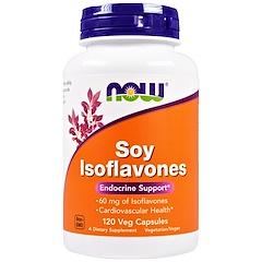 Now Foods, 콩 추출 이소플라본(Soy Isoflavone), 식물성 캡슐 120정