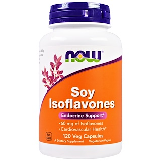 Now Foods, Soy Isoflavones, 120 Veggie Caps