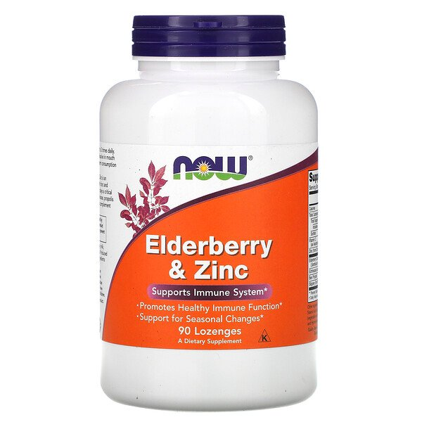 Elderberry & Zinc, 90 Lozenges