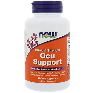 Now Foods, Clinical Strength Ocu Support, 90 растительных капсул