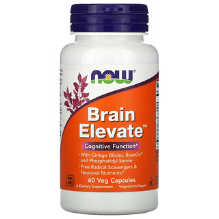 Now Foods, BrainElevate, 60cápsulas vegetales