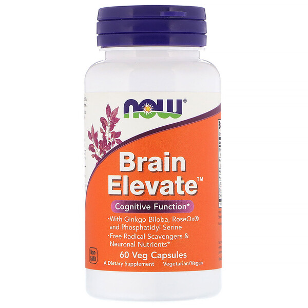 Now Foods, Brain Elevate، 60 كبسولة نباتية