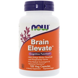 Now Foods, Brain Elevate, 120 베지캡