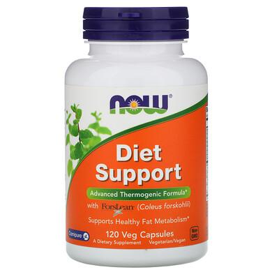 Диетическая поддержка, 120 растительных капсул now foods diet support поддержка диеты капсулы 120 шт