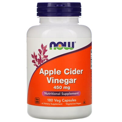 Now Foods Apple Cider Vinegar, 450 мг, 180 капсул