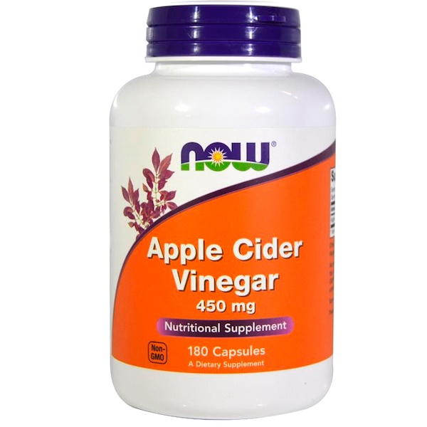 Now Foods, Apple Cider Vinegar, 450 mg, 180 Capsules