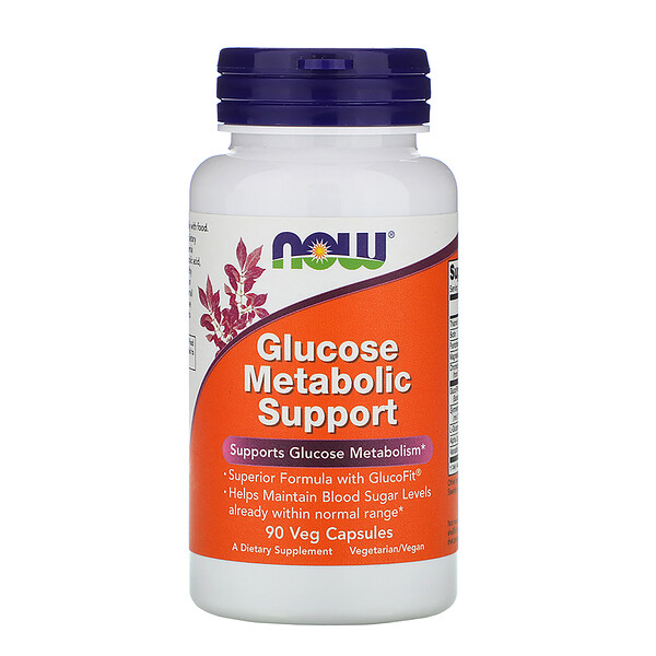 Now Foods, Glucose Metabolic Support, 90 Veg Capsules