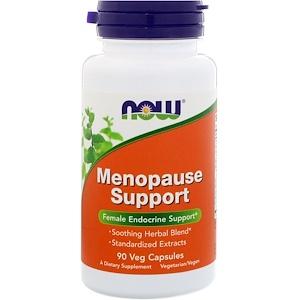 Now Foods, Menopause Support, 90 растительных капсул инструкция, применение, состав, противопоказания