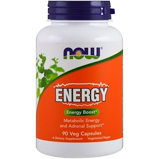 Now Foods, Energia, 90 Cápsulas Vegetarianas