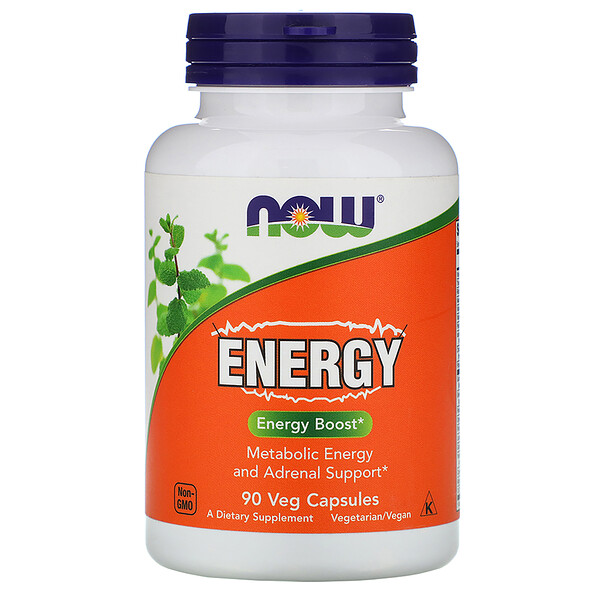 Now Foods, Energia, 90 Cápsulas Vegetais