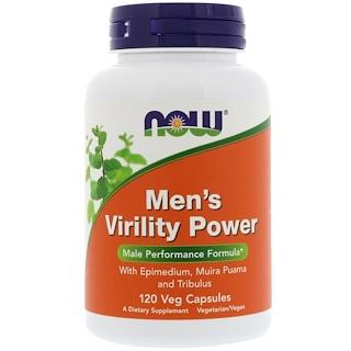 Now Foods, Men's Virility Power, 120 cápsulas vegetales